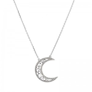 "SILVER NECKLESS ""MOON"""