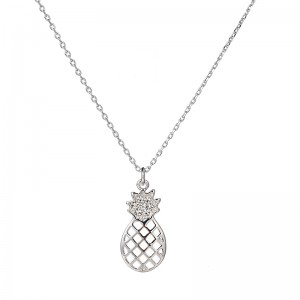 "SILVER NECKLESS ""PINEAPPLE"""