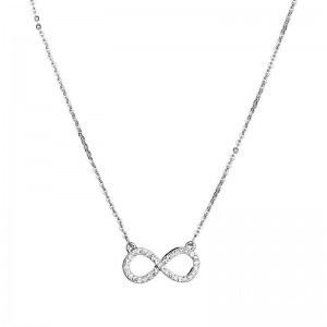 "SILVER NECKLESS ""INFINITY"""